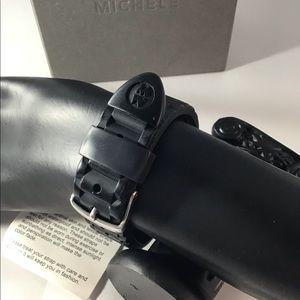 Michele Accessories - Michele Tahitian Jelly Black Silicone Chrono 36mm